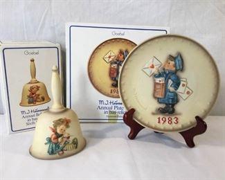 M.I. Hummel Goebel 1983 Plate & Bell 3 Piece https://ctbids.com/#!/description/share/171501