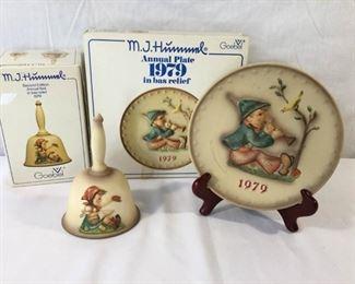 M.I. Hummel Goebel 1979 Plate & Bell 3 Piece https://ctbids.com/#!/description/share/171505