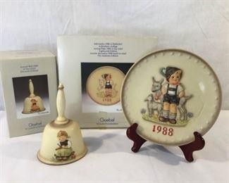 M. I. Hummel Goebel 1988 Plate & Bell 3 Piece https://ctbids.com/#!/description/share/171509