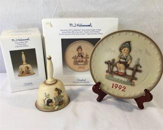 M. I. Hummel Goebel 1992 Plate & Bell 3 Piece https://ctbids.com/#!/description/share/171508