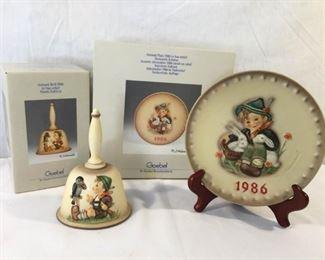 M. I. Hummel Goebel 1986 Plate & Bell 3 Piece https://ctbids.com/#!/description/share/171510