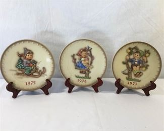 M. I. Hummel Goebel 1975, 1976, & 1977 Plates 6 Piece https://ctbids.com/#!/description/share/171515