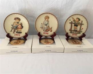 M. I. Hummel Goebel 1993, 1994, & 1995 Plates 6 Piece   https://ctbids.com/#!/description/share/171517