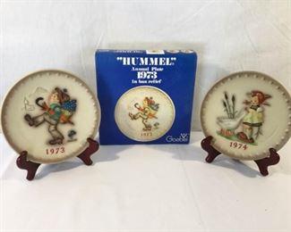 M. I. Hummel Goebel 1973 & 1974 Plates 4 Piece https://ctbids.com/#!/description/share/171514