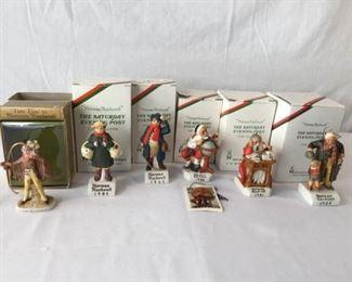 Norman Rockwell Figurine Christmas Ornaments w/ Tiny Tim 6 Piece https://ctbids.com/#!/description/share/171523