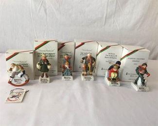 Norman Rockwell Figurine Christmas Ornaments 6 Piece #2          https://ctbids.com/#!/description/share/171524