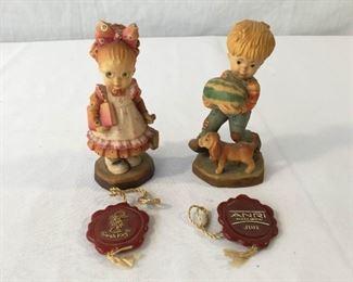 ANRI Sarah Kay Vintage Hand Carved Figurines 2 Piece #1                  https://ctbids.com/#!/description/share/171538