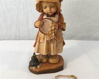 ANRI Sarah Kay Vintage Hand Carved Figurine ''Helping Mother''   https://ctbids.com/#!/description/share/171541