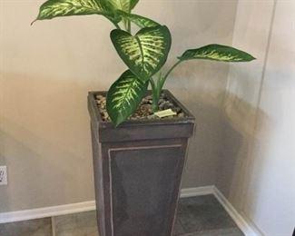 30'' Tall Square Planter with Plant https://ctbids.com/#!/description/share/171548