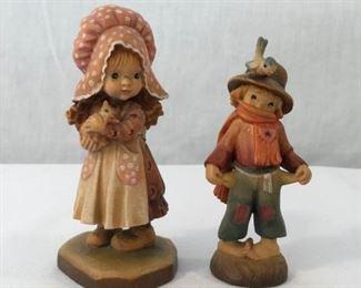 ANRI Sarah Kay & Juan Ferrandiz Vintage Hand Carved Figurines 2 Piece https://ctbids.com/#!/description/share/171553