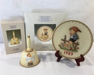 M. I. Hummel Goebel 1989 Plate & Bell 3 Piece https://ctbids.com/#!/description/share/171512