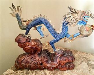 Vintage cloisonné dragon