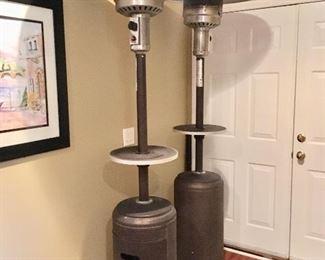 2 propane outdoor heaters