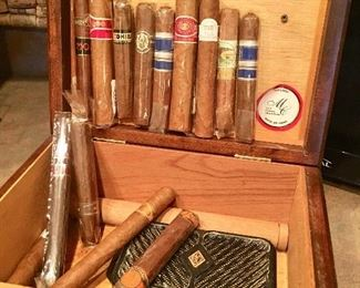 Humidor and cigars