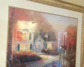 Thomas Kinkade framed print