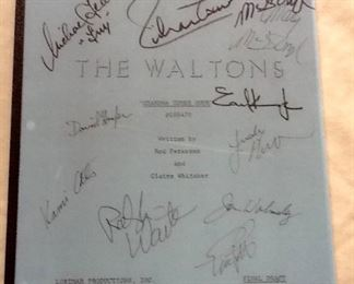 Great Autographed Script from The Waltons TV Series 1978 Episode GRANDMA COMES HOME Rare! CAST AUTOGRAPHED.