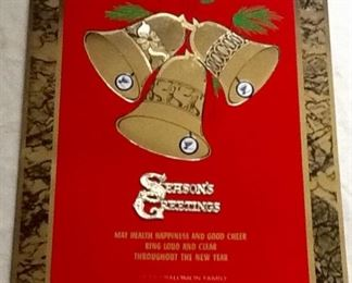 Several SID SOLOMON -ST. LOUIS BLUES LARGE CHRISTMAS CARDS 1960's-1970's Rare Collectibles