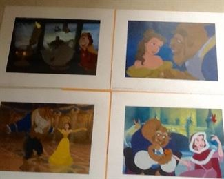 Disney Beauty & The Beast Foursome of Prints