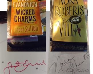 So Many Autographed Books!                                         Janet Evanovich & Nora Roberts