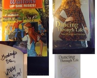 So Many Autographed Books!                                        Mary McDonough and Candace Cameron Bure