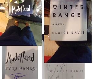 So Many Autographed Books!                                        Tyra Banks and Claire Davis