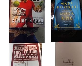 So Many Autographed Books!                                   Sammy Hagar and Laurie R. King