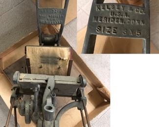 Antique Kelsey & Co. Excelsior 3 X 5 Printer Small Hand Letter Press Mercury Model N Steampunk