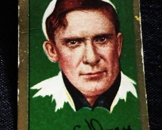 Antique Hassan Tobacco Baseball Trading Card- Charles S. Dooin (Philadelphia Nationals)