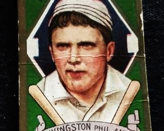 Antique Sweet Caporal Tobacco Baseball Trading Card- Patrick J. Livingston (Philadelphia Athletics)