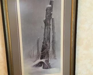 WINTER REFUGE, Ben Hampton Artist Proof, signed & Numbered. Great Matting and Framing makes this piece very unique.