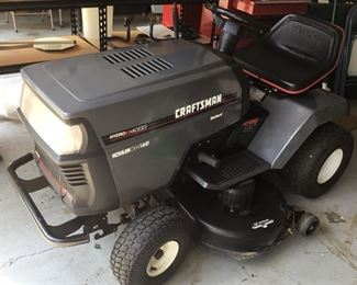 Side view of the Craftsman Riding Lawn Mower