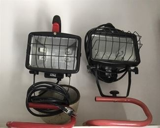 Two spot lights in working condition and like new.
