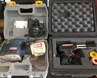Ryobi Sander and Craftsman Soldering Gun
