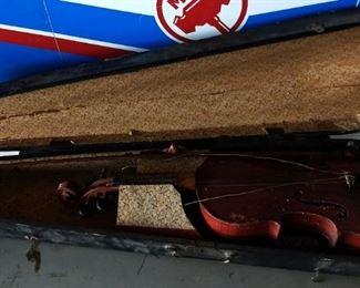 Antique Violin in Wood Case