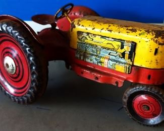 Vintage Marx Metal Toy Tractor
