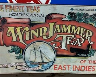 WindJammer Tea Tin Sign