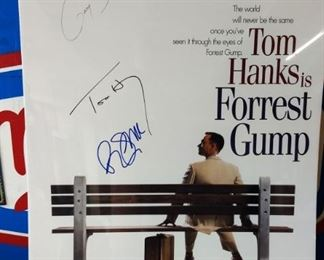 """""""Forrest Gump"""" Movie Poster- Note*Autographs have not been verified"""