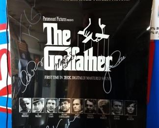 """""""Godfather"""" 25th Anniversary Movie Poster- Note*Autographs have not been verified"""