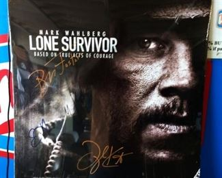 """""""Lone Survivor"""" Movie Poster- Note*Autographs have not been verified"""