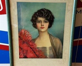 Early 1900s F. Earl Christy Print, Framed
