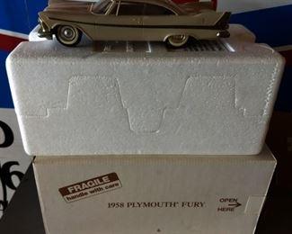1958 Plymouth Fury Model Car with Original Box