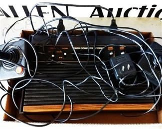 Vintage Atari 2600 Computer Game System with Joy Sticks, More