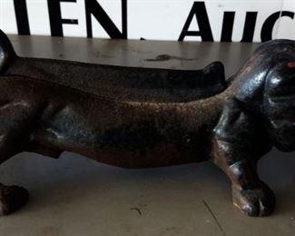 Vintage Cast Iron Dachsund Foot Scraper