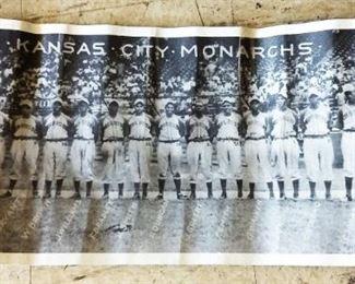 Vintage Kansas City Monarchs Negro Baseball Team Photograph