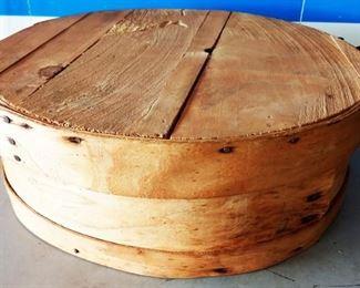 Vintage Cheese Wheel Box