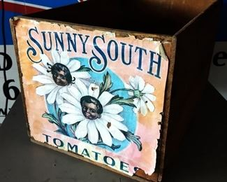"""Vintage """"Sunny South Tomatoes"""" Crate"""