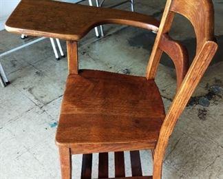 Vintage Wood School Desk