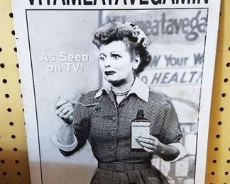 """""""Vitameatavegamin"""" Tin Sign"""