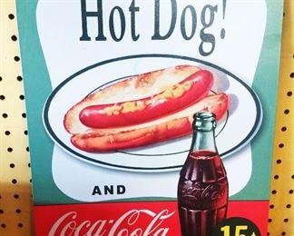 """Coca-Cola"" Tin Sign"