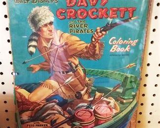 Vintage Davy Crockett Coloring Book
